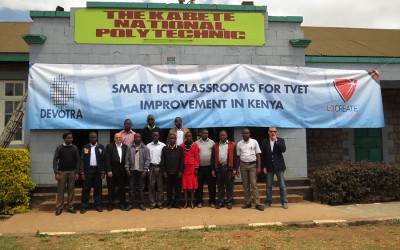 Devotra starts with the installation, commissioning and training of the Smart Classroom project in Kenya