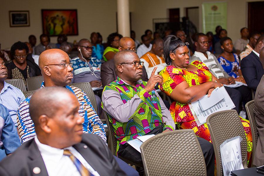 Participants observing presentations at the Devotra Smart Classroom workshop in Ghana